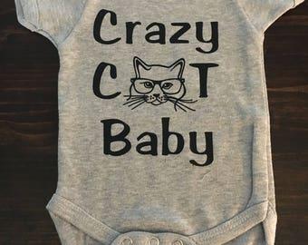 Crazy Cat Baby Onesie