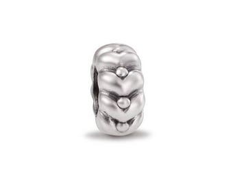 "Authentic Sterling Silver Pandora ""Heartbeats"" Charm #790450"