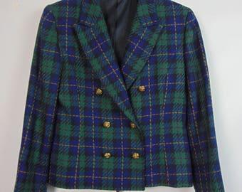 Vintage Blue/Green Tartan Jacket