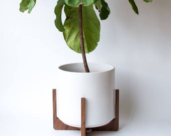 Modern Floor Planter, Plant Stand with Ceramic