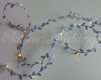 Purple / Lilac Leaf Fairy Lights / String Lights / Garland Battery Indoor Bedroom Wedding Decoration Nursery