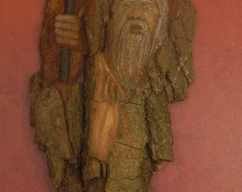 Cottonwood Bark Carving