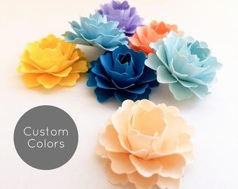 "1"" Loose Paper Flowers | Custom Colors | Paper Flower Table Decorations | Paper Flower Party Decorations | Table Scatter"