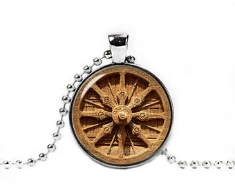 Dharma Wheel Necklace Wheel of the Dharma Pendant Buddhist Symbol Dharmachakra Necklace Buddhist Jewelry