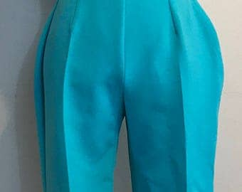 1960's Aqua Blue Snow Ski Jumpsuit - Apres Ski Resort Wear - Ski Boutique by White Stag - Size 16 - Medium