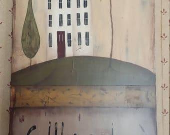 Wall plaque, Home decor, Decorative plaque, Folk Art plaque, Hand Painted sign, Primitive Folk Art Decor