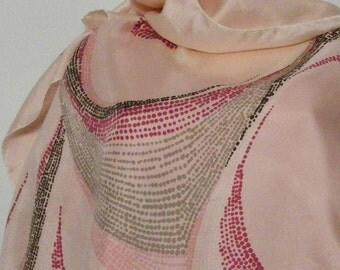 Vintage silk scarf Free shipping