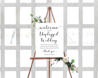Unplugged Wedding Sign Poster- Sign for Unplugged Wedding- No Cell Phones Sign- Unplugged Wedding Sign- Unplugged Ceremony Sign-