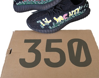 Custom Simpsons LiL Yachty Yeezy 350 V2 (ALL SIZES) (Hand-Painted)