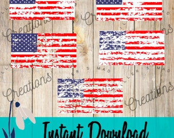 5 Pack-Distressed American Flag SVG, Distressed Flag SVG, American Flag SVG, 4th of July, Indepence, Memorial Day, Labor Day, Flag Svg