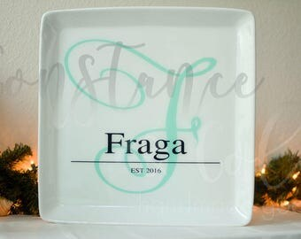 Personalized serving platter for the entertaining couple in your life~
