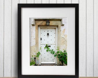 Rustic Door, Castle Combe England Photo, Farmhouse, Entryway Bedroom Decor, The Cotswolds, Office Photo Art, Large Travel Print, Boho Decor