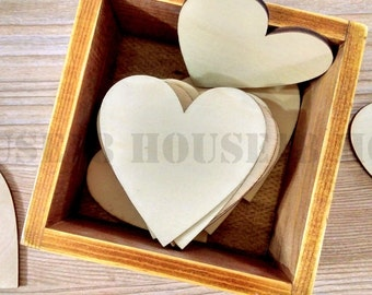 Wood Heart Laser Cut Wooden Heart Rustic Wedding Country Wedding Bridal Shower Decorations | Blank