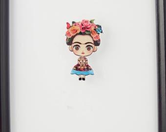 Frida Kahlo inspired Needle minder / Frida Needleminder / Fashion Needleminder
