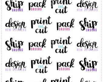 Sticker Shop Lettering Planner Stickers for Erin Condren, Happy Planner, Plum Planner, Passion Planner (#9)