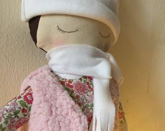 fabric handmade doll stuffed with kapok / doll for girl
