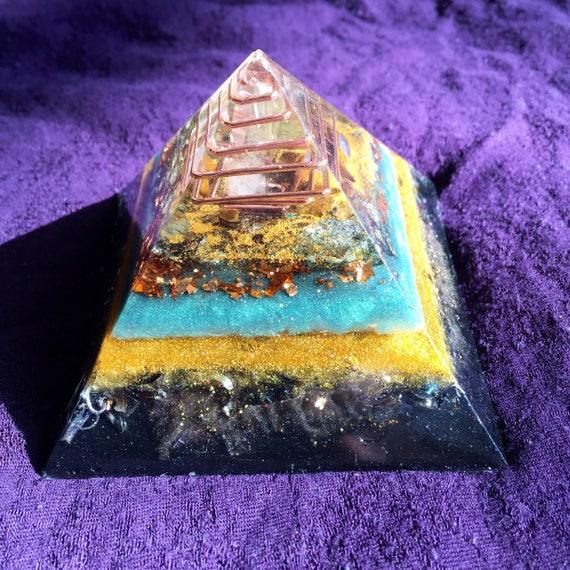 Lemurian Orgonite® Pyramid- Light Worker Orgone- Opal Dream Awakening Orgonite® Pyramid for Cosmic Consciousness and Lucid Dreaming