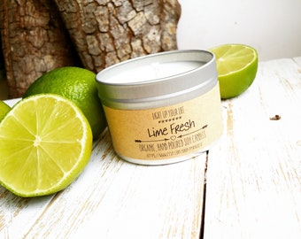 Lime Soy Candle, Lime Fresh, Lime Candle, Lime Scented Candle, Vegan Candle, Soy Candle, Organic Soy Candle, Natural Candle, Scented Candle