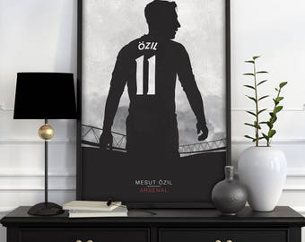 Mesut Ozil - Arsenal FC Illustration | Football, Sport, Wall Art, Mancave, Gifts, Home Decor  (A4 & A3)