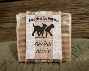Amber Noir Fragrance, All Natural Goat Milk Soap