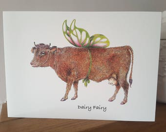 Dairy Fairy Cow Card