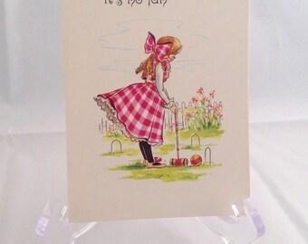 Vintage Get Well Greeting Card
