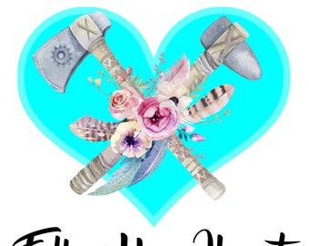 Follow Your Heart 8 x 10 printable poster, downloadable, art decor
