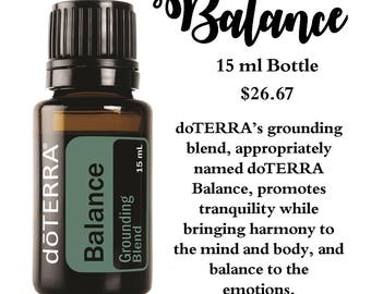 how to use doterra balance oil
