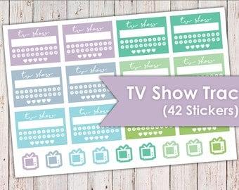 TV Show Habit Trackers | Erin Condren Planner Stickers 42 Stickers