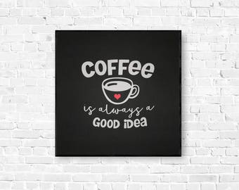 Coffee Bar Decor - Coffee Wall Art - Kitchen Wall Art - Kitchen Decor - Coffee Bar Sign - Coffee Shop Sign - But First Coffee - Coffee Sign