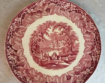 """Mason's Ironstone China Vista 15"""" Platter Chop Plate"""