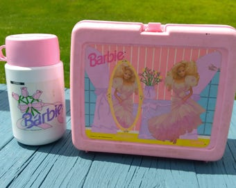 Barbie Lunch Box and Thermos