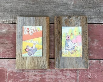 Raggedy Ann Stories Print Set | 1961 | Peace by Piece Reclaimed Wood Wall Art | Hanging Wall Art | Made to Order |