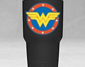 Wonder Woman Super Hero Yeti Tumbler Vinyl Decal