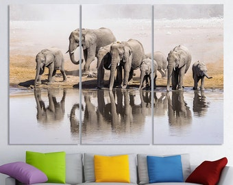 Elephant art Elephant canvas Elephant poster Elephant print Elephant photo Elephant wall decor Elephant Wall art Elephant Home Decor
