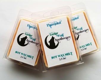 Hazelnut Wax Melt / Clamshell Wax Melt / Wax Shot Melt / Soy Wax Melt / Stocking Stuffers / Christmas Gift / Gift for Her / Gift
