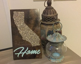 "Chunky Glitter ""Home"" Sign"
