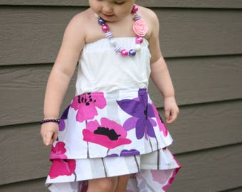 The Shameless Dress Summer Strapless Sleeveless Ruffle Hi Low Baby Toddler Girls Tween Cake Smash