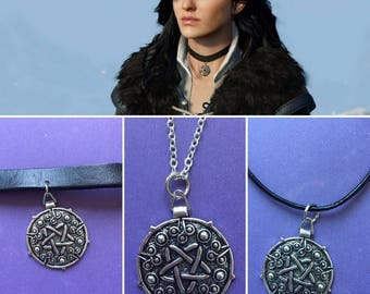 Yennefer Necklace, Yennefer Choker, The Witcher Yennefer, Yennefer Cosplay, Yennefer Costume, Yennefer medallion, Witch necklace