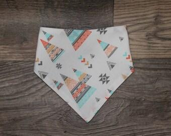 Bandana Bib   Tribal   Bibdana   Teepee   Teething   Baby   Tipi   Drool Bib   Kenton Creations   Perfect Gift   Handmade in Canada