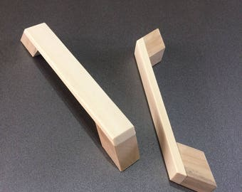 Wood Cabinet Pull,Wood Pull,Modern Cabinet Pull,Contemporary Wood Cabinet Pull,Drawer Pull,Wood Hardware