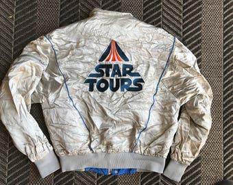 Original Retro 1986 Disney Theme Park Exclusive Star Tours Flight Silver Jacket