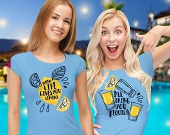 Tequila shirt / best friend shirts / bff shirts / tequila t shirt / bridesmaid shirts / best friend outfits / tequila glasses / couple shirt