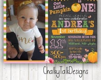 Little pumpkin first birthday invitation, little pumpkin first birthday ideas, fall first birthday, little pumpkin party ideas