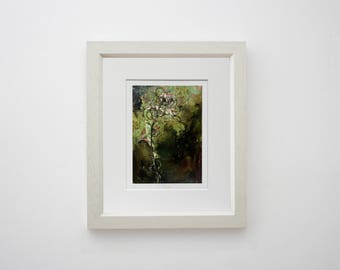 Winter: Limited Edition Giclée Print of Original Copper Painting by Jessica Elleray