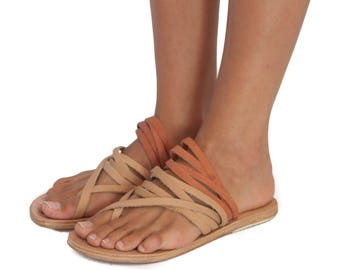 Strappy Sandals - Tan