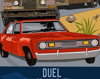 DUEL movie poster - 1970s movie - poster