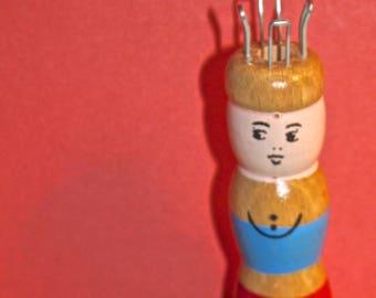 Wooden Knitting Doll knitting spool