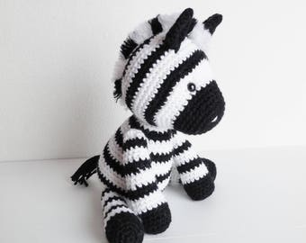 Ziggy the Zebra / Crochet Plush Zebra / Amigurumi Zebra Stuffed Animal
