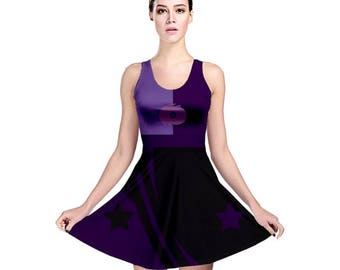Sugilite Cosplay Dress - Skater Dress Steven Universe Dress Crystal Gem Dress Fusion Dress Sugilite Cosplay Geeky Dress Plus Size Dress